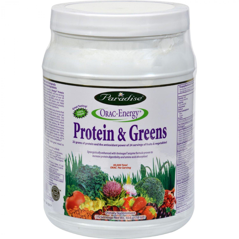 Paradise Herbs Orac Energy Protein Greens - 16 oz