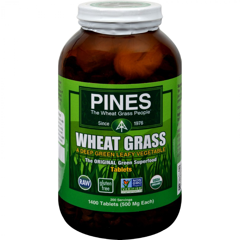 Pines International Wheat Grass - 500 mg - 1400 Tablets