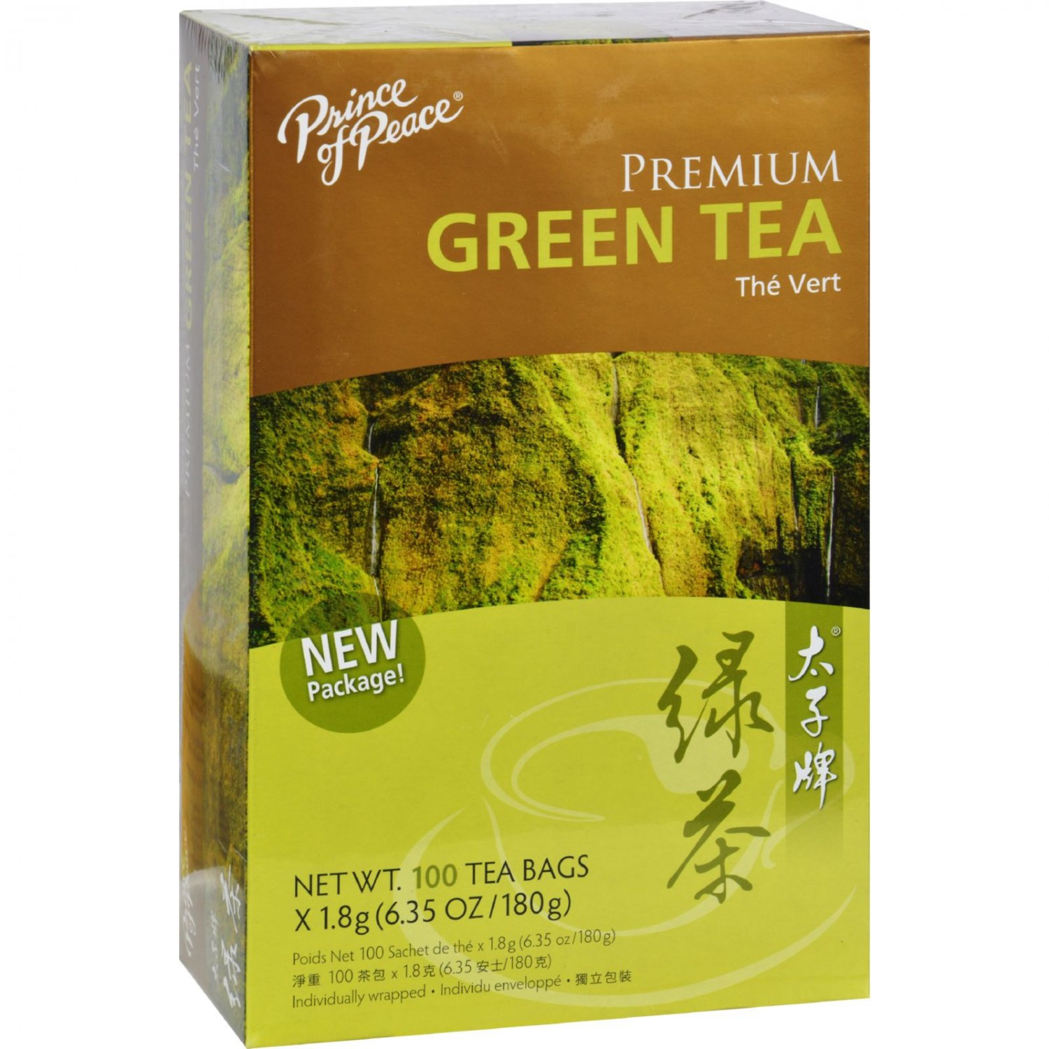 Prince of Peace Premium Green Tea - 100 Tea Bags (Pack of 3)