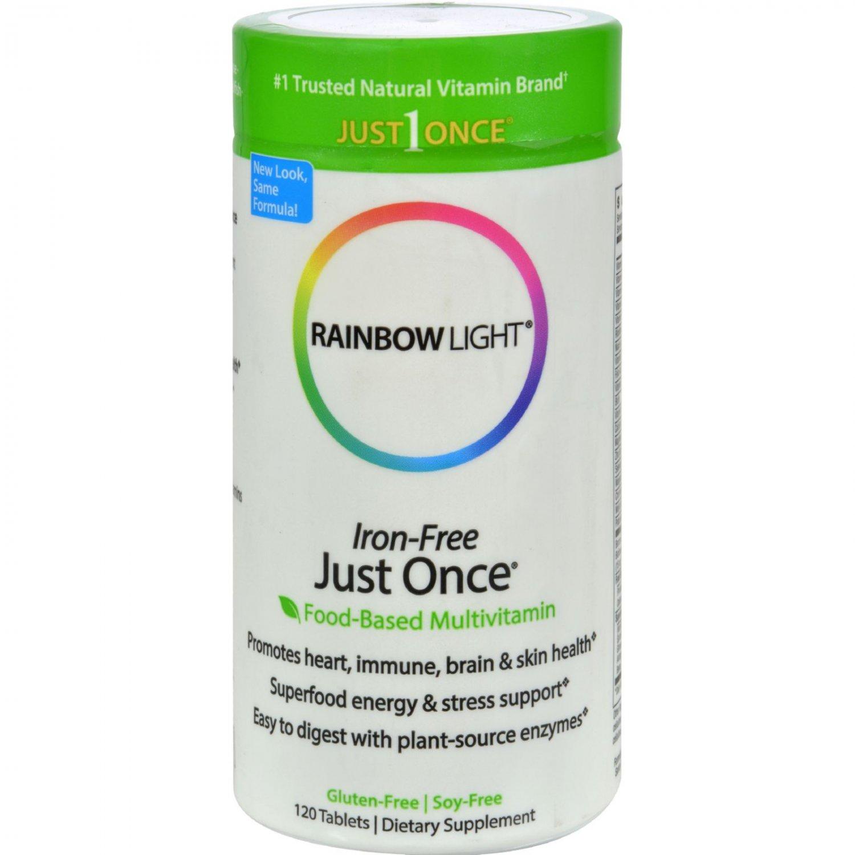 Rainbow Light Just Once Iron-Free Food-Based Multivitamin - 120 Tablets