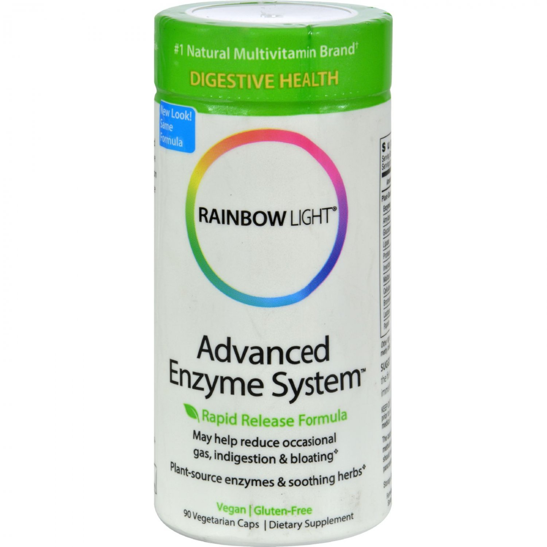 Rainbow Light Advanced Enzyme System - 90 Vegetarian Capsules