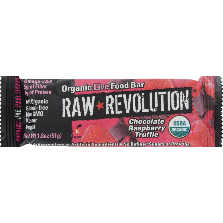 Raw Revolution Bar - Organic Raspberry Truffle - Case of 12 - 1.8 oz