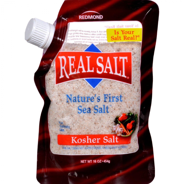 Real Salt Gourmet Kosher Sea Salt - 16 oz - Case of 6