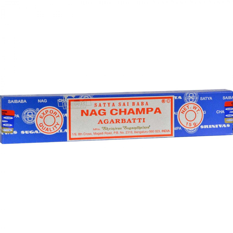 Sai Baba Nag Champa Agarbatti Incense - 15 g - Case of 12