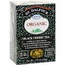 St Dalfour Organic Tea Black Cherry - 25 Tea Bags - Case of 6