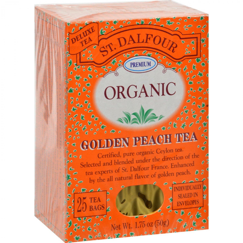 St Dalfour Organic Tea Golden Peach - 25 Tea Bags