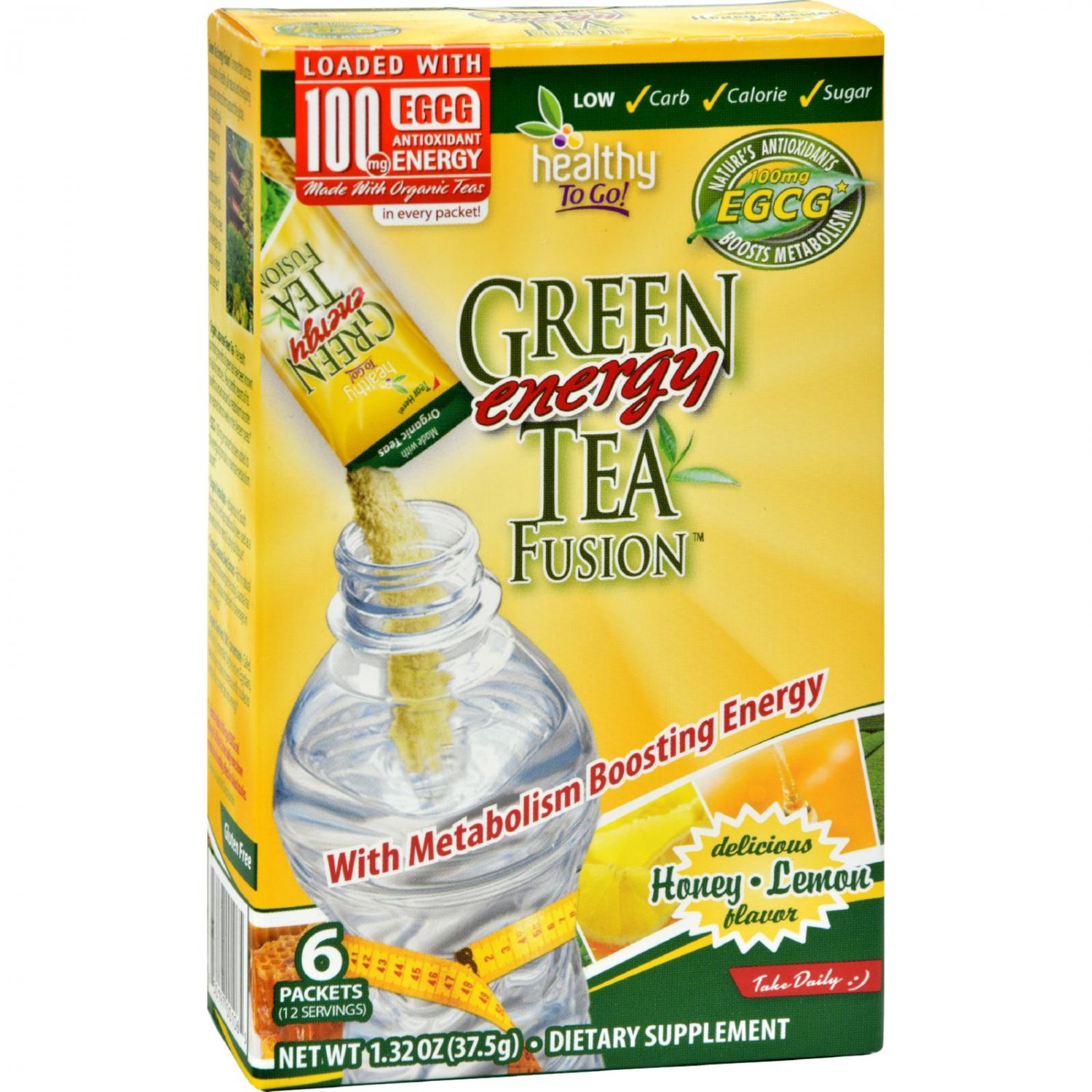 To Go Brands Green Tea Energy Fusion - 6/1.32oz