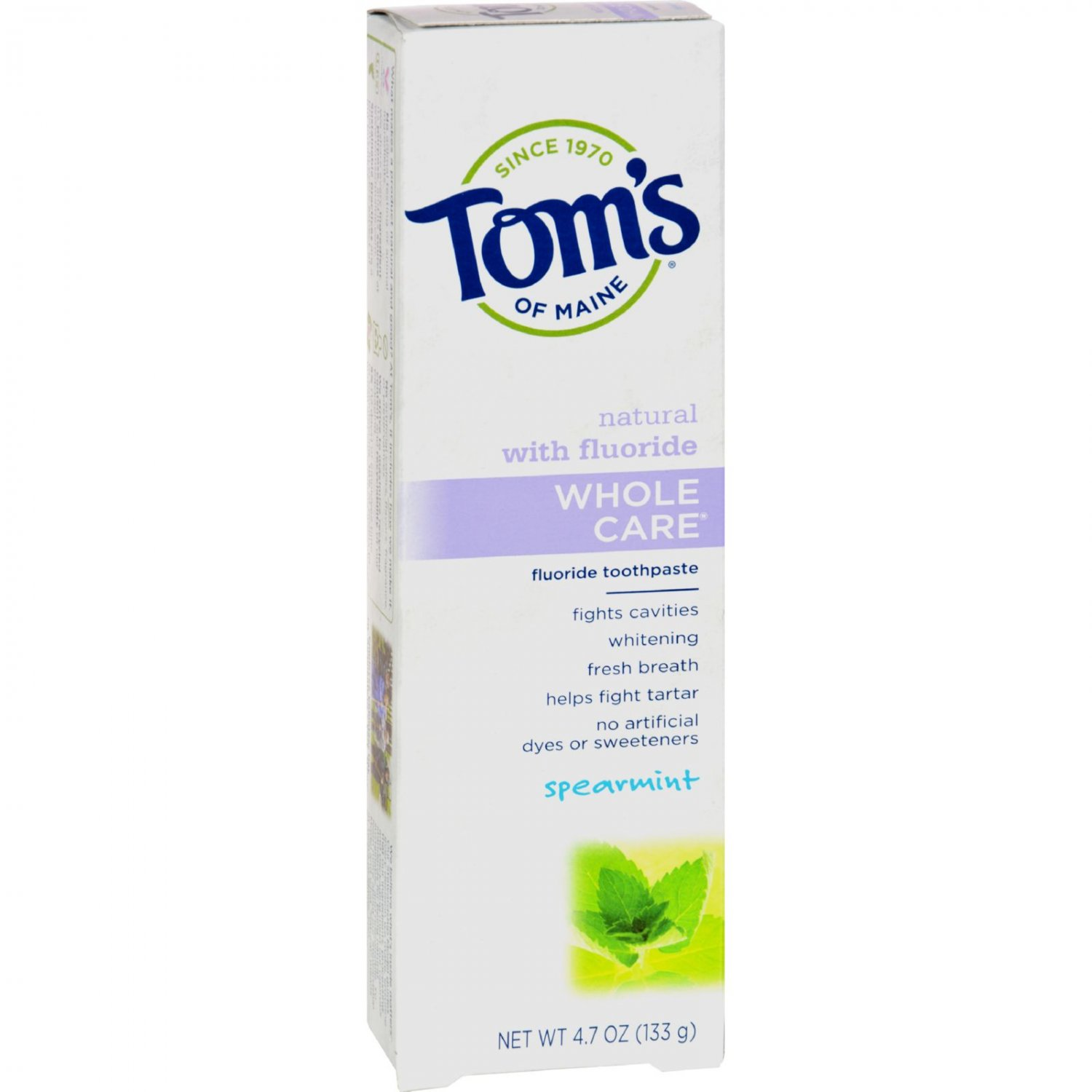 Tom's of Maine Whole Care Toothpaste Spearmint - 4.7 oz - Case of 6