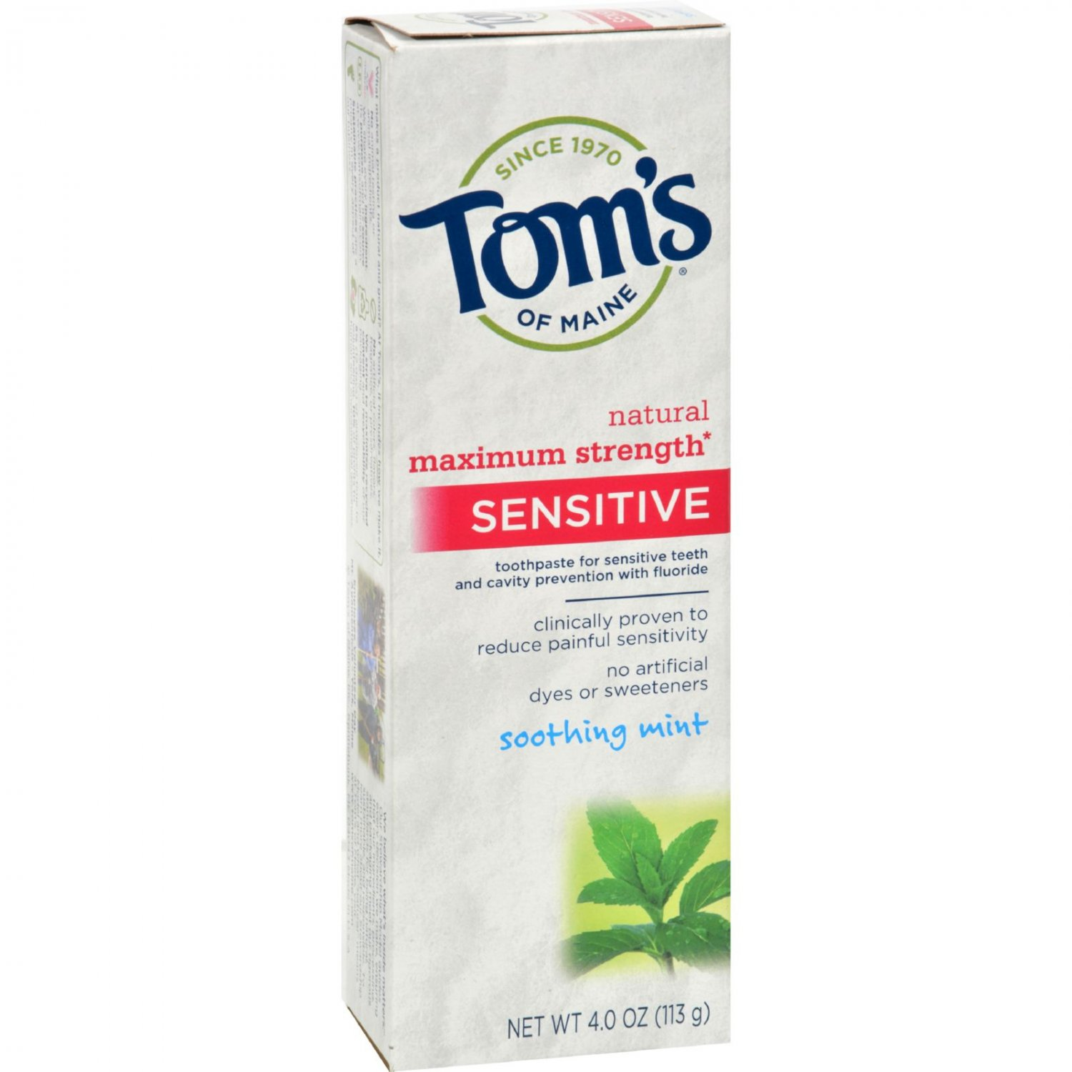 Tom's of Maine Sensitive Toothpaste Soothing Mint - 4 oz - Case of 6