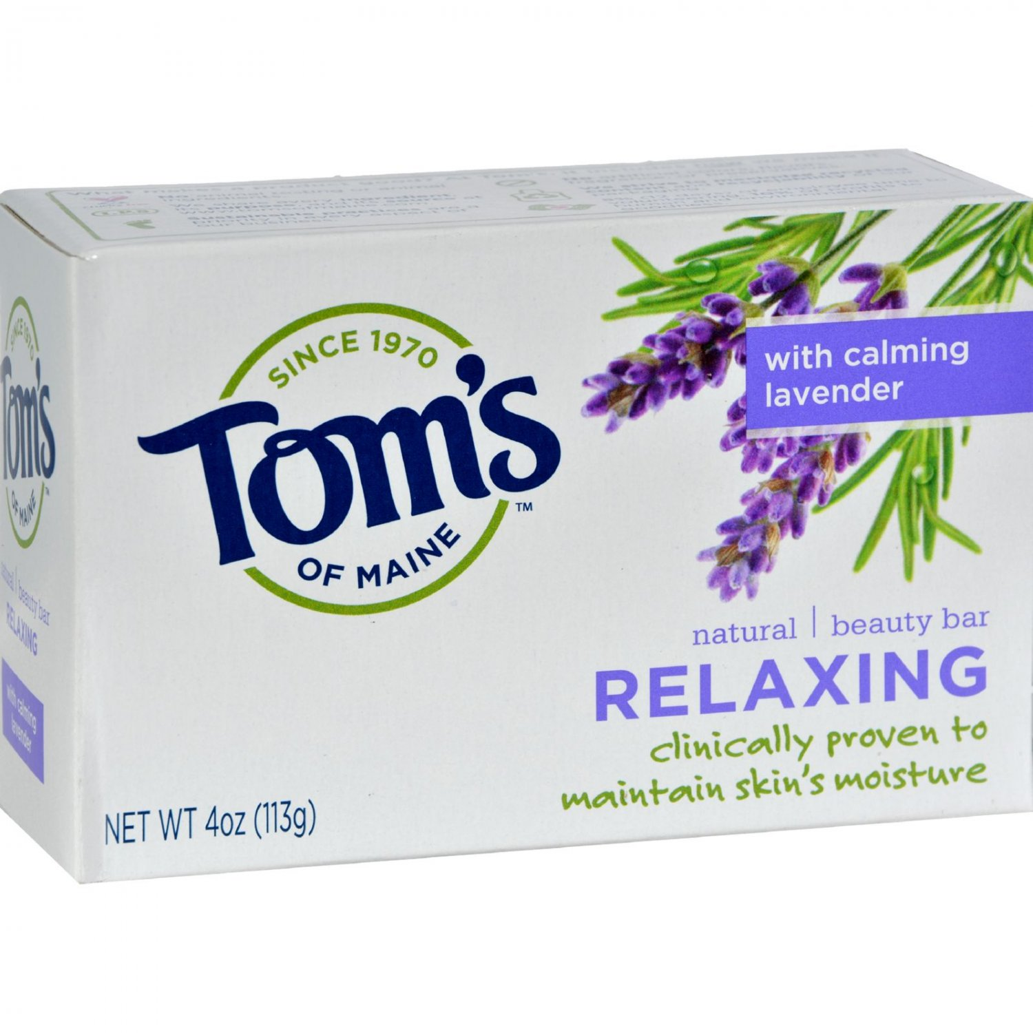 Tom's of Maine Natural Beauty Bar Relaxing with Calming Lavender - 4 oz - Case of 6
