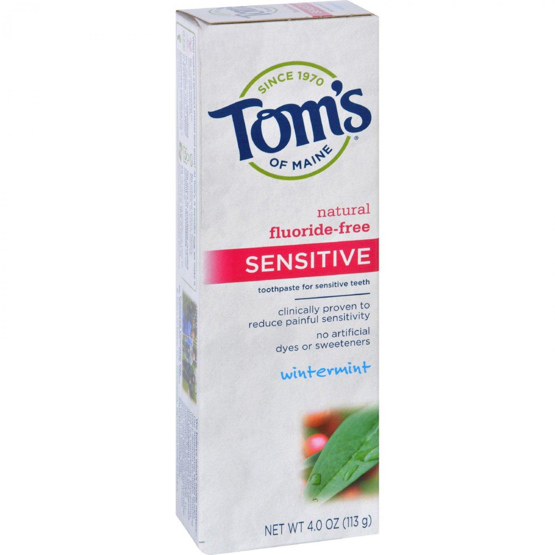Tom's of Maine Sensitive Toothpaste Wintermint - 4 oz - Case of 6