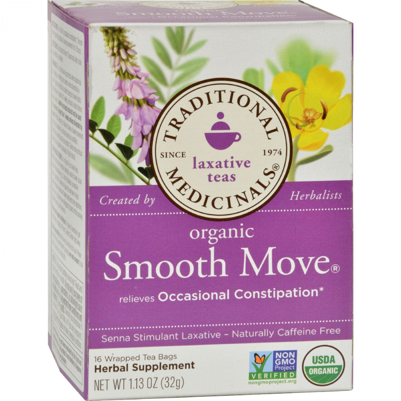 Traditional Medicinals Organic Senna Stimulant Laxative Tea - Caffeine Free - 16 Bags