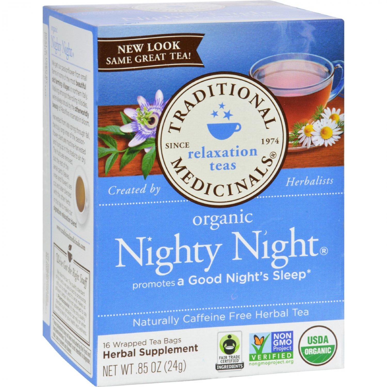 Traditional Medicinals Organic Nighty Night Tea - Caffeine Free - 16 Bags