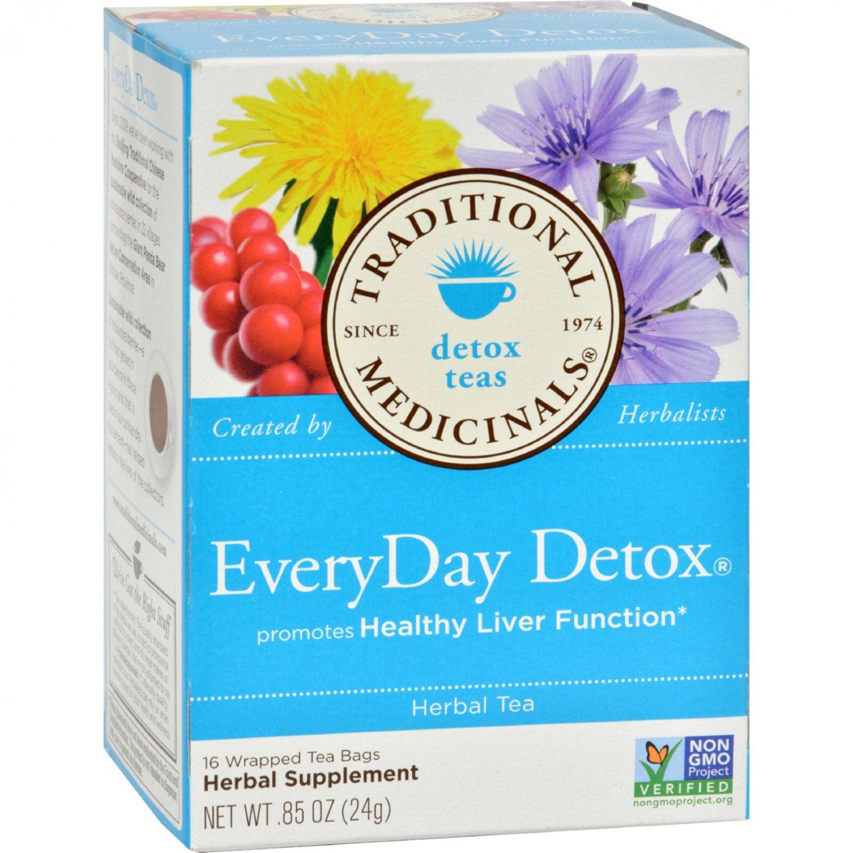 Traditional Medicinals Everyday Detox Herbal Tea - 16 Tea Bags