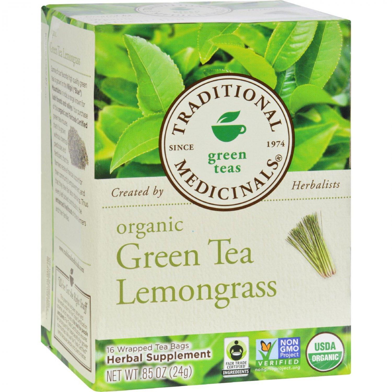 Traditional Medicinals Organic Golden Green Tea - 16 Tea Bags - Case of 6