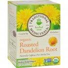 Traditional Medicinals Organic Roasted Dandelion Root Herbal Tea - 16 Tea Bags - Case of 6