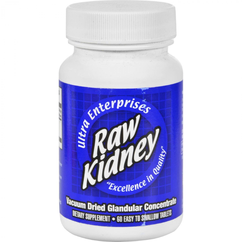 Ultra Glandulars Raw Kidney - 200 mg - 60 Tablets