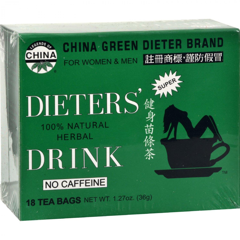 Uncle Lee's China Green Dieters Tea Dieter's Drink - 18 Tea Bags