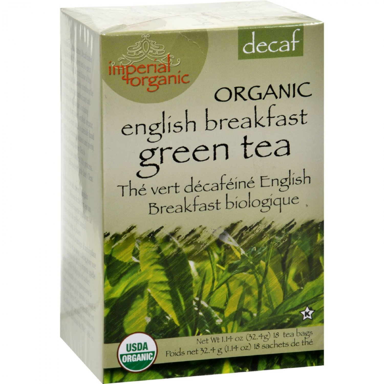 Uncle Lee's Imperial Organic Decaffeinated English Breakfast Green Tea - 18 Tea Bags