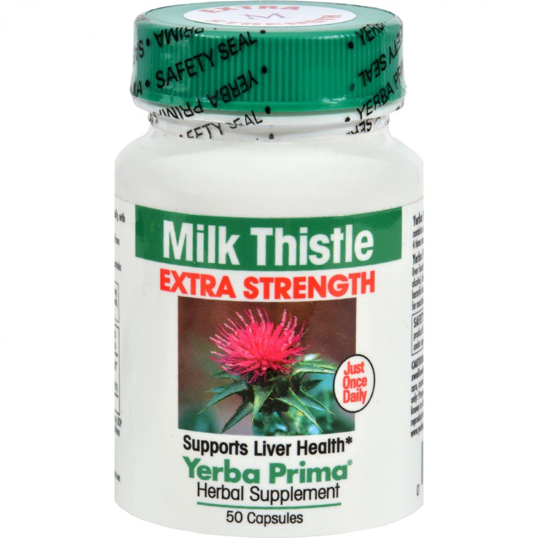 Yerba Prima Milk Thistle Extra Strength - 50 Capsules