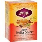 Yogi Herbal Tea Caffeine Free Classic India Spice - 16 Tea Bags - Case of 6