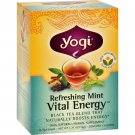 Yogi ReVitalize Herbal Tea Energizing Assam Mint - 16 Tea Bags - Case of 6