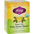 Yogi Organic Green Tea Caffeine Free - 16 Tea Bags - Case of 6