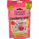 Yummy Earth Organic Standup Lollipops Strawberry Smash - 3 oz - Case of 6