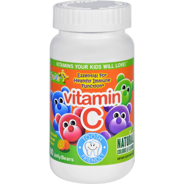 Yum V's Vitamin C Jellies Yummy Orange - 60 Chewables
