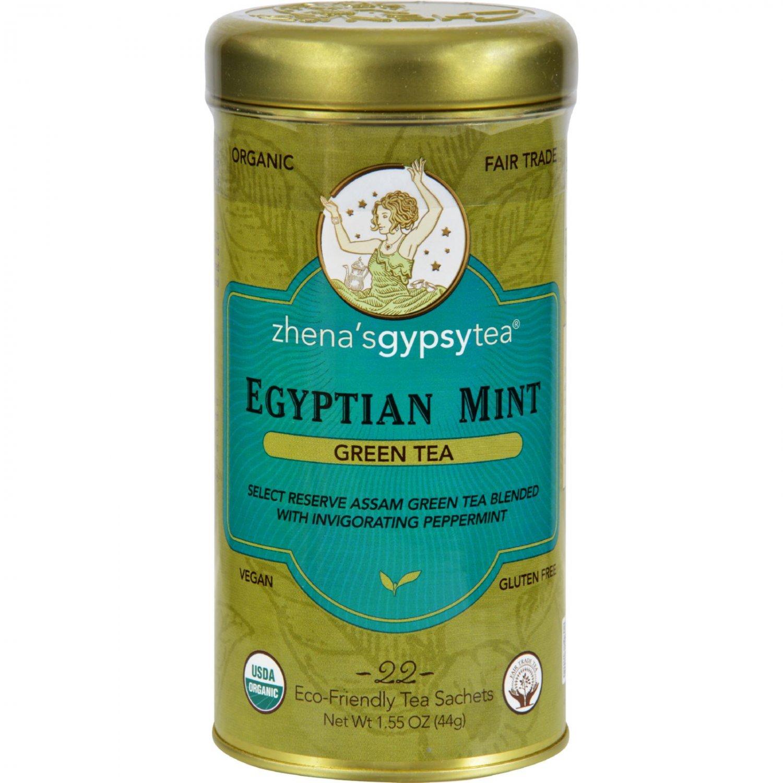 Zhena's Gypsy Tea Organic Egyptian Mint - Case of 6 - 22 Bags