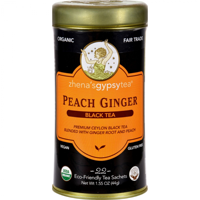 Zhena's Gypsy Tea P Ginger Black Tea - Case of 6 - 22 Bags