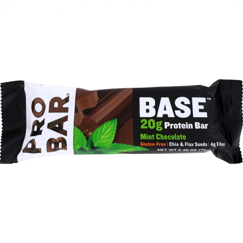 Probar Organic Mint Chocolate Core Bar - Case of 12 - 2.46 oz