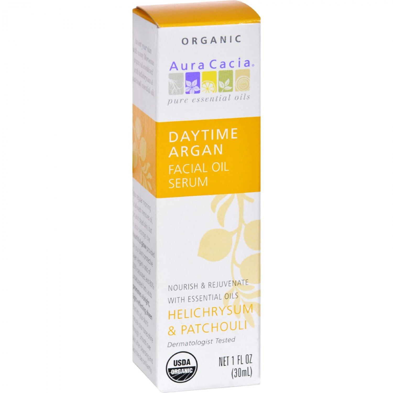 Aura Cacia Organic Face Oil Serum - Argan - 1 fl oz