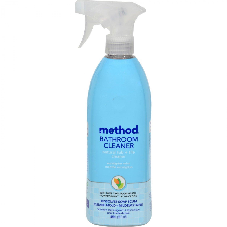 Method Products Tub and Tile Spray - Eucalyptus - 28 oz - Case of 8