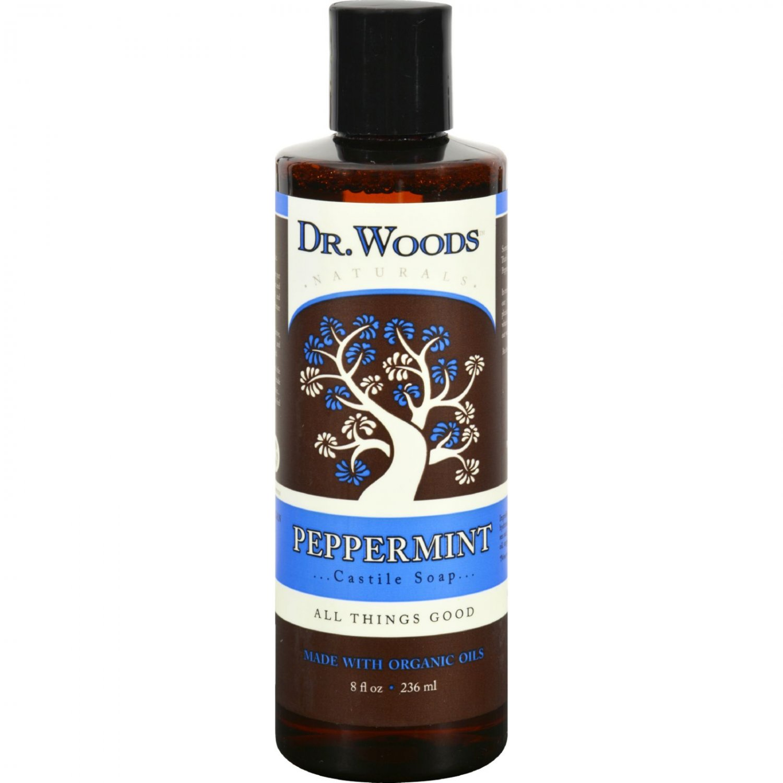 Dr. Woods Naturals Castile Liquid Soap - Peppermint - 8 fl oz