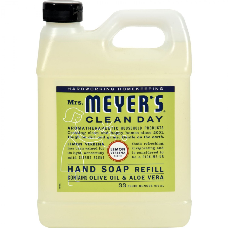 Mrs. Meyer's Liquid Hand Soap Refill - Lemon Verbena - 33 lf oz - Case of 6
