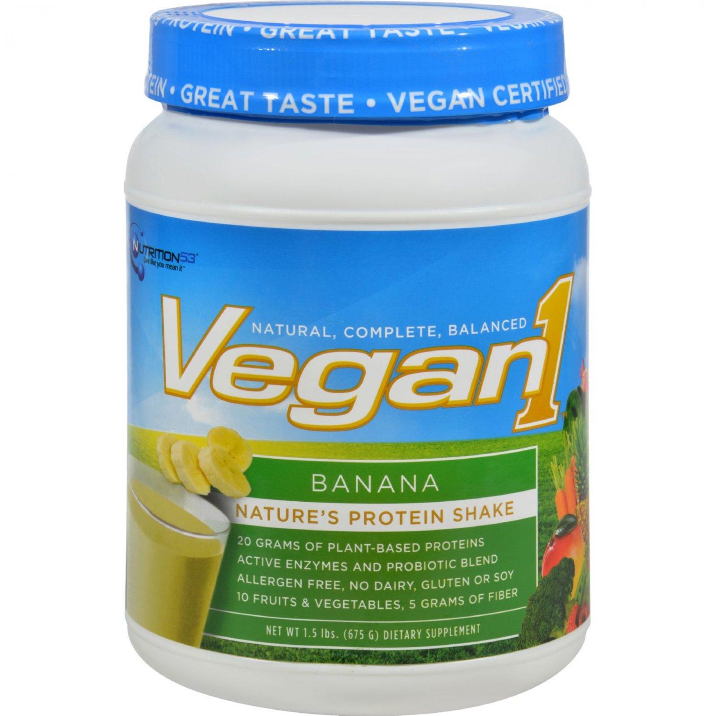 Nutrition53 Vegan1 Shake - Banana Cream - Gluten Free - 1.5 lbs