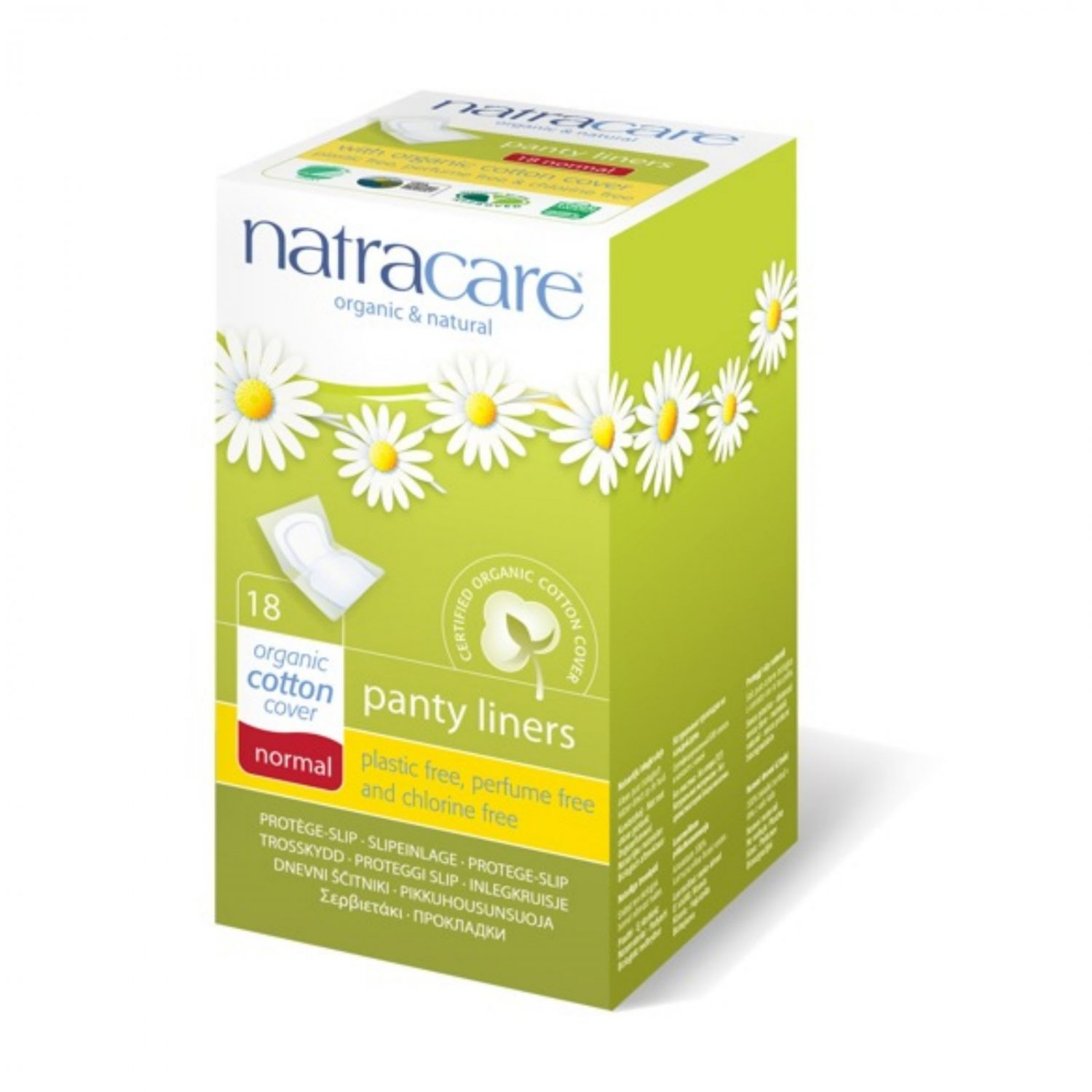 Natracare Panty Liner - Normal Wrapped - 18 ct