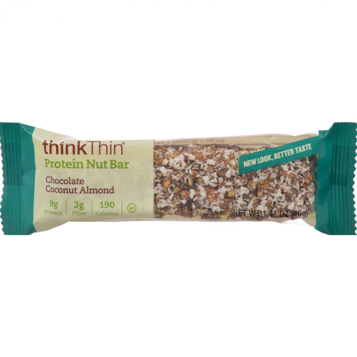 Think Products thinkThin Crunch Bar - Crunch Coconut Chocolate Mixed Nuts - 1.41 oz - Case of 10