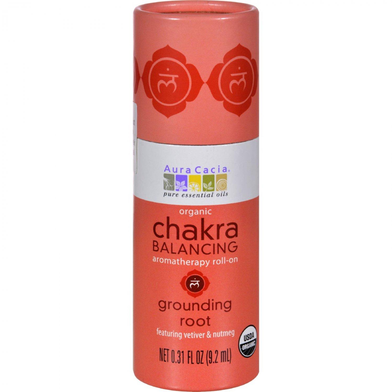 Aura Cacia Organic Chakra Balancing Aromatherapy Roll-on - Grounding Root - .31 oz