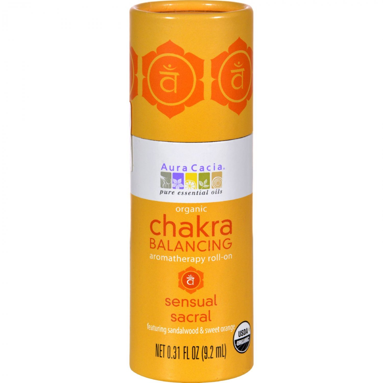 Aura Cacia Organic Chakra Balancing Aromatherapy Roll-on - Sensual Sacral - .31 oz