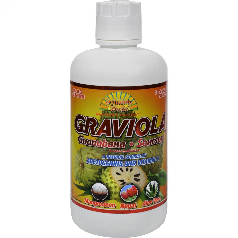 Dynamic Health Graviola Guanabana-Soursop Extract Superfruit Juice Blend - 32 oz