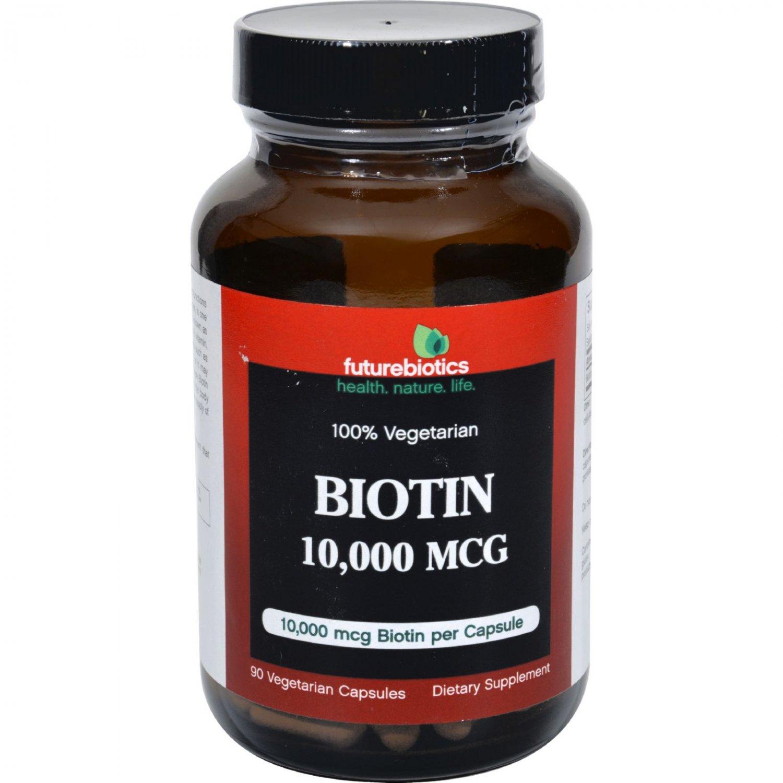 FutureBiotics Biotin - 10000 mcg - 90 Vegetarian Capsules