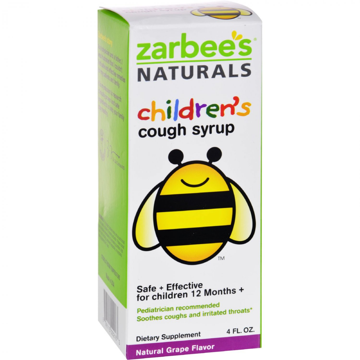 Zarbee's All Natural Children's Cough Syrup - Grape - 4 oz