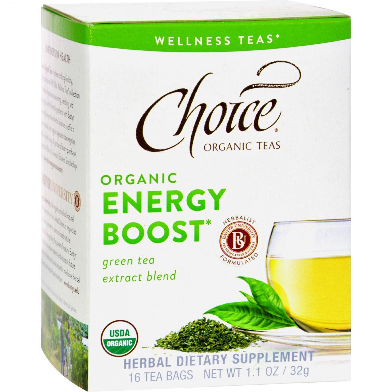 Choice Organic Teas - Organic Energy Boost Tea - 16 Bags - Case of 6
