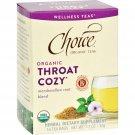 Choice Organic Teas - Organic Throat Cozy Tea - 16 Bags - Case of 6