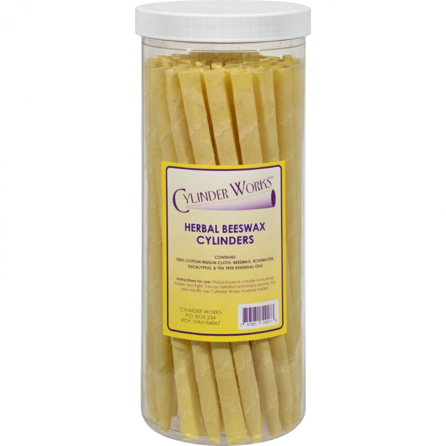 Cylinder Works Cylinders - Herbal Beeswax - 50 ct