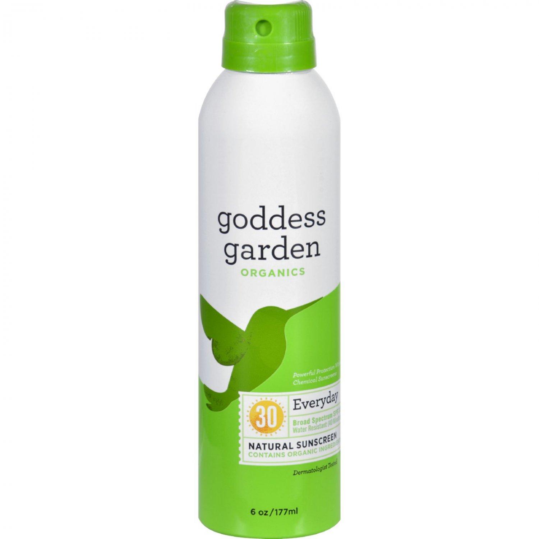 Goddess Garden Organic Sunscreen - Sunny Body Natural SPF 30 Continuous Spray - 6 oz