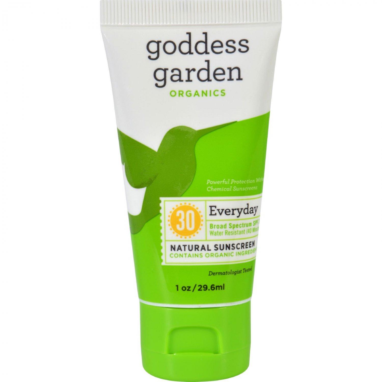 Goddess Garden Organic Sunscreen Counter Display - Tube - 1 oz - Case of 20