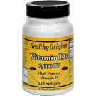 Healthy Origins Vitamin D3 - 2000 IU - 120 Softgels